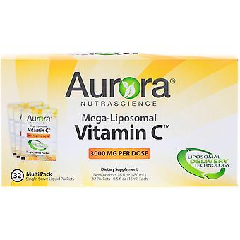 Aurora Nutrascience, Mega-Liposomal Vitamin C, 3,000 mg, 32 Single-Serve Liquid