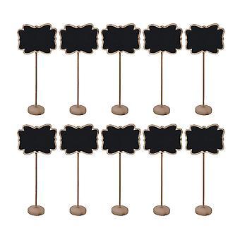 10PCS En bois Mini Stand Tableau noir Signe dentelle en forme