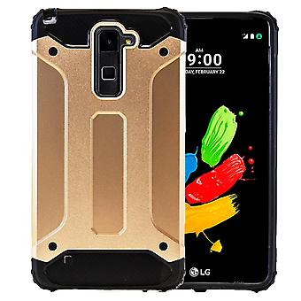Shell for LG Stylus 2 Plus / K530F Armor Gold Protection Case Hard