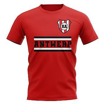 رويال أنتويرب كور لكرة القدم تي شيرت (الأحمر)