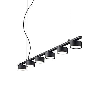 Ideal Lux MINOR - Indoor 6 Licht Decke Linear Pendelleuchte 6 Lichter schwarz