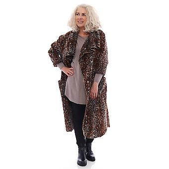 Made In Italy Phoebe Leopard Print Coat