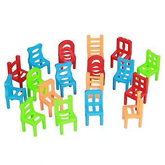 18 Pcs / Set Board Balance Chairs - Adult Kids Stacking Game