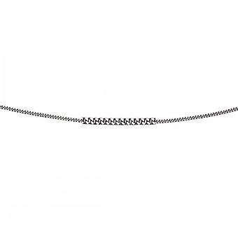 Elements Gold 9CT White Gold Diamond Cut Curb Chain Necklace GN179