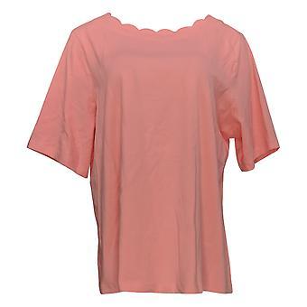 الدنيم وشركاه المرأة & apos;ق أعلى الكمال جيرسي الكوع كم الوردي A353041