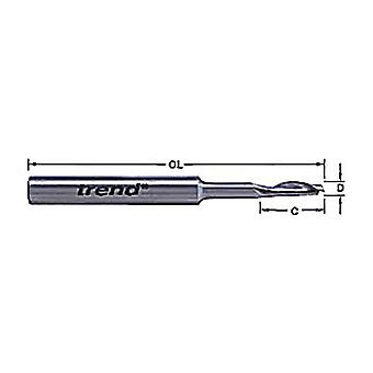 Trend 50/19 x 8mm HSSE Steel Helical Plunge Bit 5mm TRE50198HSE