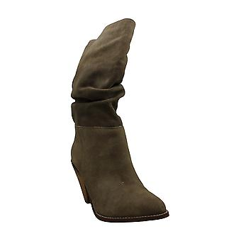 Chinese Laundry Women's Shoes Singer Silky Suede Suede Almond Toe Mid-Calf Fa...