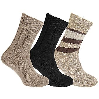 Floso Unisex Adults Wool Rich Socks (3 Pairs)