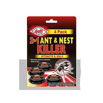 Doff 2 In 1 Ant & Nest Killer Bait Station x 4 DP1092