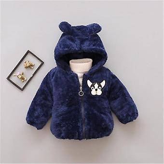 Efterår Vinter Baby Tøj Varm hættetrøje jakke & Coat Toddler Polar Fleece