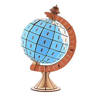Develop kids intelligence Wooden 3D Puzzle 128 pieces - Globe