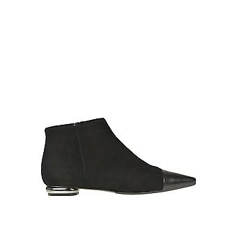 Anna Baiguera Ezgl238025 Women's Black Suede Ankle Boots