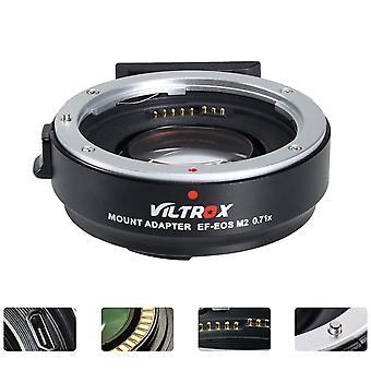 Viltrox ef-eos m2 0,71x fókuszszűkítő sebesség növelő objektív adapter automatikus fókusz a Canon ef bajonettes objektívhez