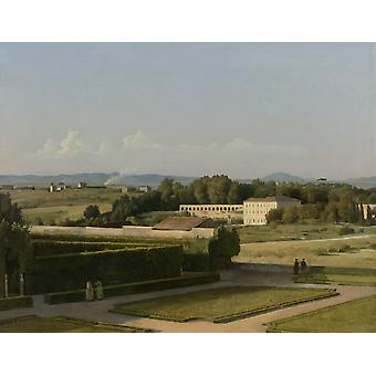 View Of The Gardens Of Villa Medici Poster Print