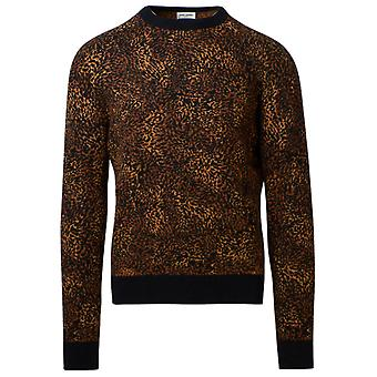 Saint Laurent 632002yarb21096 Men's Leopard Nylon Sweater