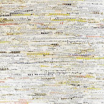 Decoração fina movimentada notícias impressão multicolore papel de parede