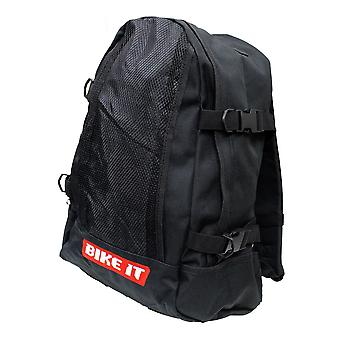 Bike It Heavy Duty Motorcycle Backpack Rucksack Black 7L