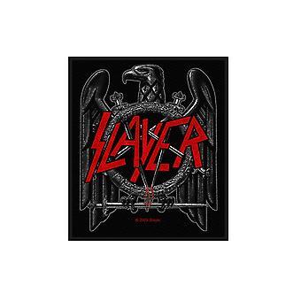 Slayer Patch svart Eagle Band logotyp officiella nya svart bomull vävd (8 x 10 cm)