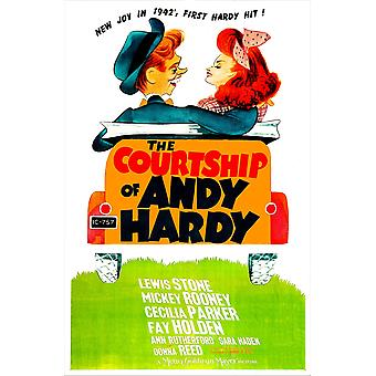 The Courtship Of Andy Hardy Us Poster From Left Mickey Rooney Donna Reed 1942 Movie Poster Masterprint