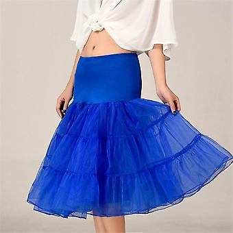 الربيع Cosplay Petticoat تحت تنورة الركبة قصيرة الزفاف متعدد الطبقات منتفخ