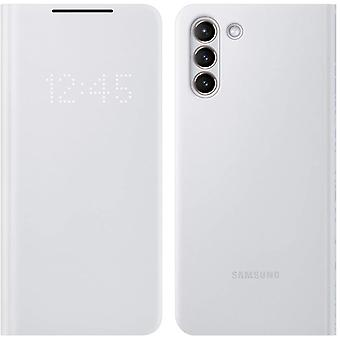 Official Samsung Galaxy S21+ Plus 5G LED View Cover Flip Case- Light Gray
