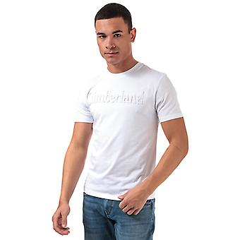 Men's Timberland Kennebec Rivers Embossed T-Shirt in White