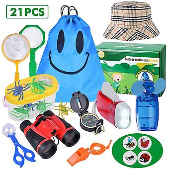 Outdoor explorer kit - 21 pack kids bug catcher toys gifts for 3 4 5 6-10 years old boys girls adven