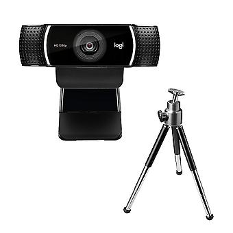 Logitech c922 pro stream webcam, hd 1080p/30fps oder hd 720p/60fps hyperschnelles Streaming, Stereo-Audio,