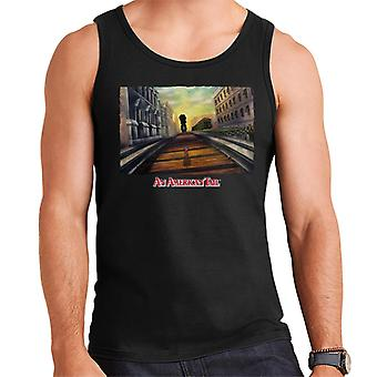 An American Tail Fievel Mousekewitz Walking On Train Track Men's Vest