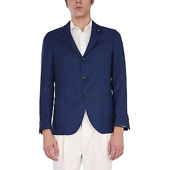 Lardini El528ae830 Men's Blue Cotton Blazer