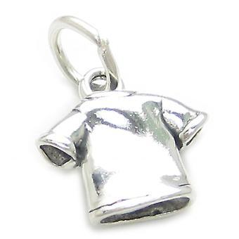 T-shirt Sterling Silver Charm .925 X 1 Tshirt Teeshirt Tee Shirt Charms - 3438