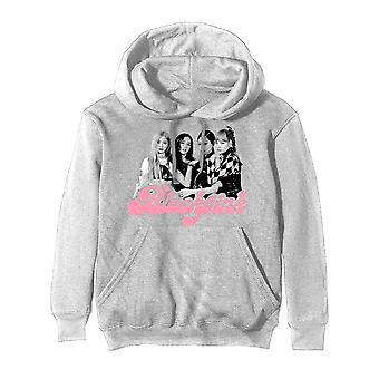 BlackPink Hoodie Photo Tee Band Logo new Official Mens Off White Pullover