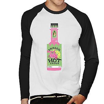 Shrek Dragon Hot Sauce Fiona i det højeste tårn Mænd's Baseball langærmet T-shirt
