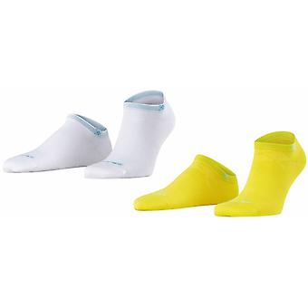 Burlington Everyday 2-Pack Sneaker Socks - Sunlight Yellow/White