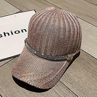 قبعة البيسبول النسائية مع شريط حجر الراين