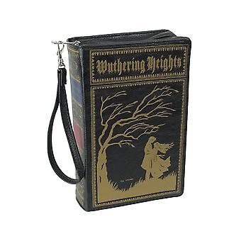 Black Vinyl Wuthering Heights Book Handbag Novelty Clutch Purse Crossbody Bag Emily Bronte