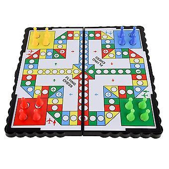1set Magnetic Foldable Flying Chess Crawling Mat Ludo Set