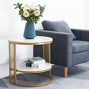 Large Marble Round Coffee Table
