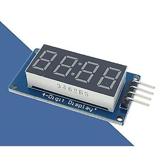 4-bits, Digital Led Display Module For Arduino 7-segment, Clock Red, Anode Tube