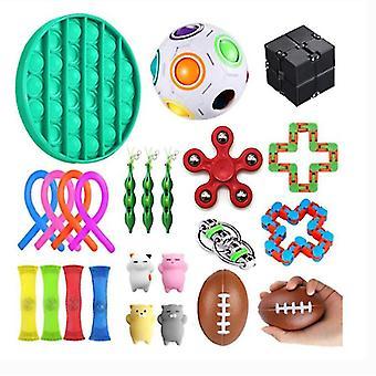 Сенсорный Fidget Игрушки Установить, 24 ПК, стресс помощи игрушки