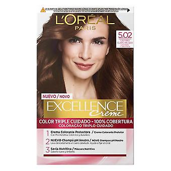 Permanent Dye Excellence 5,02 L'Oreal Make Up Light Brown