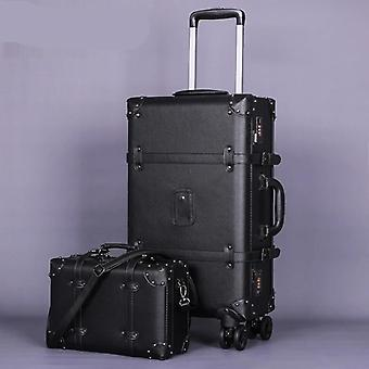 Spinner Vintage Leather Suitcase