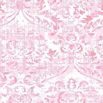 Roze Van Geluk Veelkleurig Bedrukt Tapijt in Polyester, Katoen, L120xP180 cm