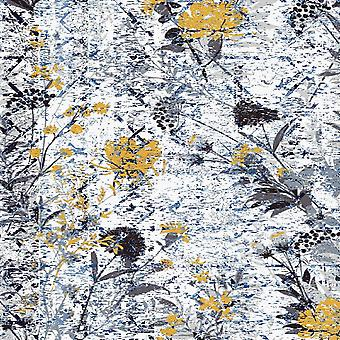 Home Love 2 Veelkleurig bedrukt tapijt in polyester, katoen, L100xP200 cm