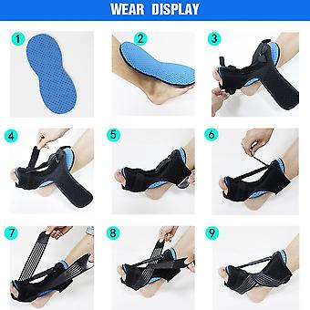 Verstelbare Plantaire Fasciitis Night Foot Splint Drop Orthotic Brace