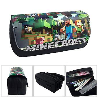 Minecraft Children's double-layer pencil case with large capacity