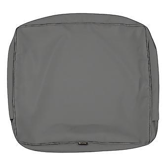 "Accessori classici Montlake Fadesafe Patio Lounge Back Cushion Slip Cover - 4"" Thick - Light Charcoal Grey, 19""W X 20""H X 4""T (60-296-010801-Rt)"