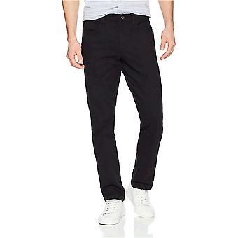 Goodthreads Men's Slim-Fit 5-Pocket Chino Pant, Black, 34W x 33L