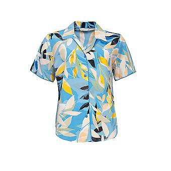 Cyberjammies Phoebe 4810 Dames's Blue Floral Modal Pyjama Top