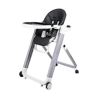 Baby Dining Chair, Multifunctional Leather Portable Foldable Table And Gril
